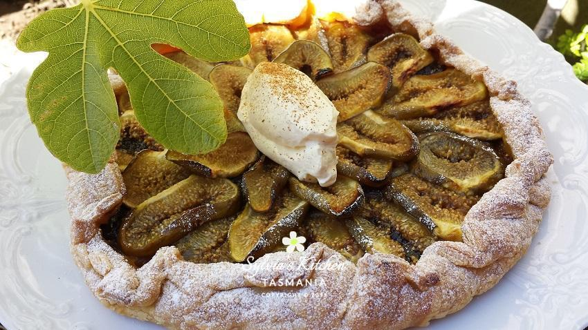 Fig Galette ⋆ Sylvia's Kitchen Cooking Classes Launceston Tasmania