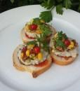 Sylvia's Multi-cultural Appetiser using Garlic & Tomatoes